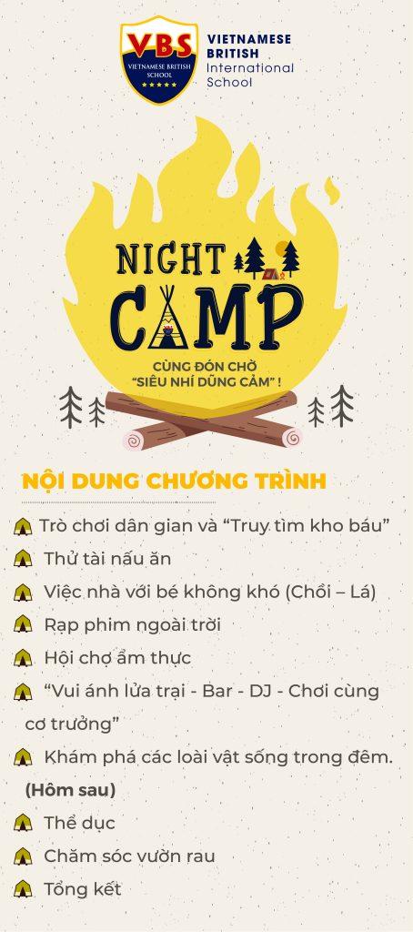 Nội dung chương trình VBS's NIGHT CAMP